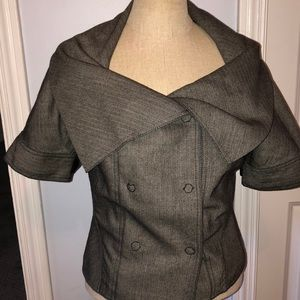 Magaschoni herringbone knit blazer XS